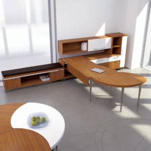 Air Office with Extended Meeting Table