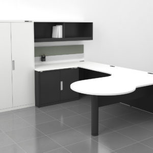 TakeOff Office with Accessory Bar and Tackboard