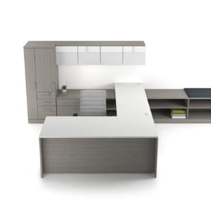 TakeOff Office with Wardrobe Cabinet